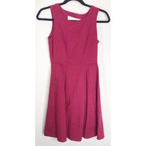 Lauren Conrad 4 burgundy wine open back mini dress